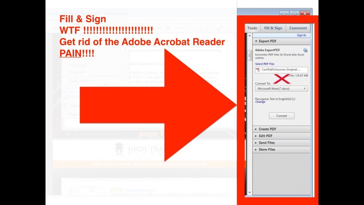 get rid of acrobat reader panel pain fill and sign mac youtube