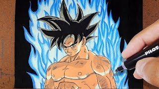 COMO Desenhar GOKU ssj LIMIT BREAKER Dragon Ball Super, COLORINDO DESENHOS FAMOSOS