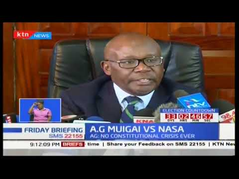 Kenyan Attorney general insists on no constitutional crisis if fresh elections takes place