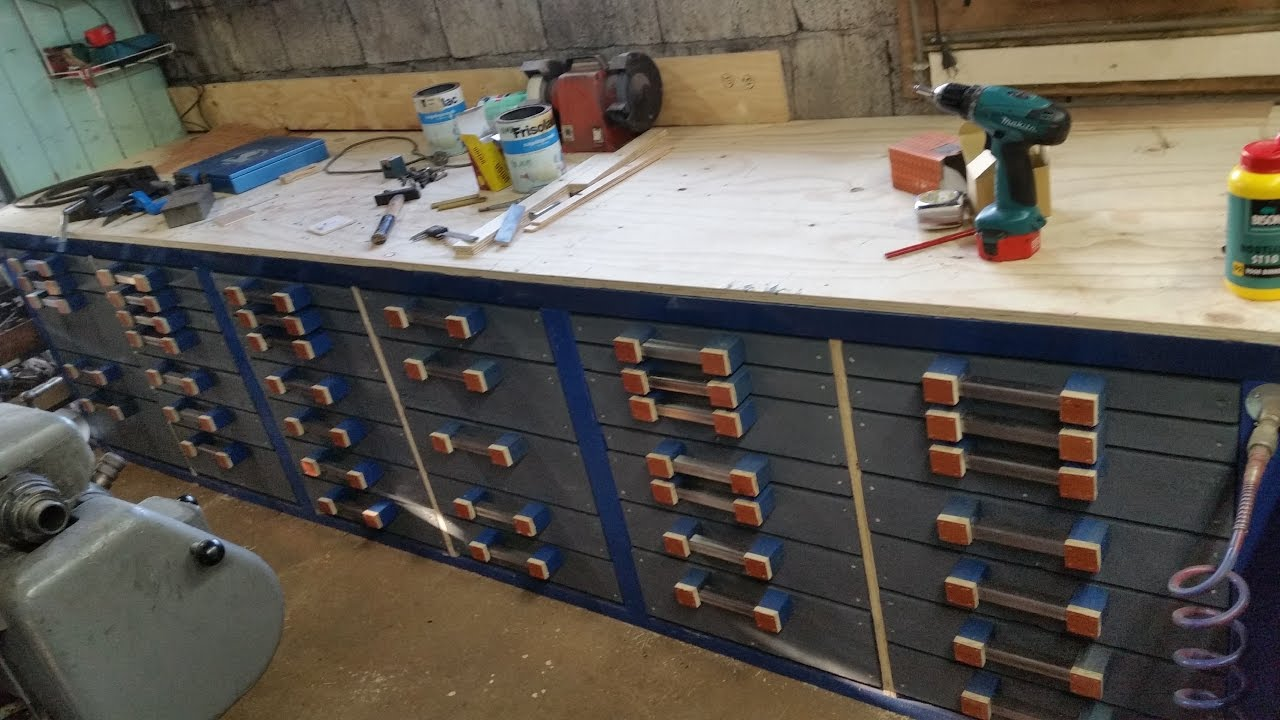 Extreme Homemade Workbench With 38 Drawers Youtube
