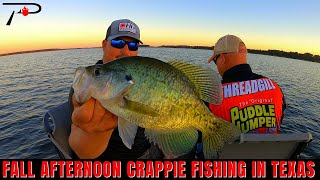 Texas Fall Crappie Fishing