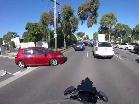 Motorbike Close Call On Ferntree Gully Rd