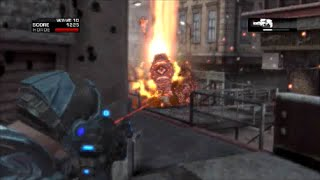 "GEARS OF WAR 2 - Solo Horde gameplay ""DAY ONE"" waves 1-10 complete! (Close Calls!!  No Death!!)"