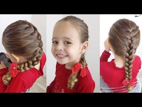 Penteado Infantil Trança Embutida Simples (Trança Raiz)