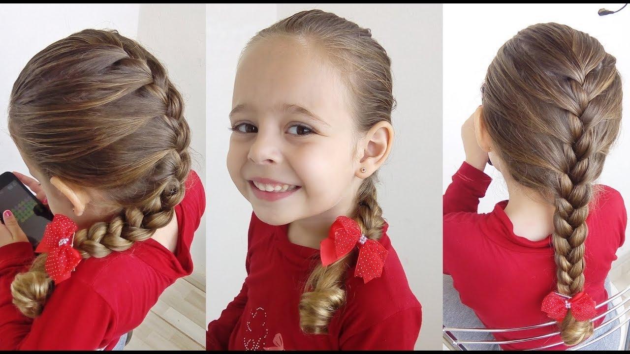 Penteado Infantil Trança Embutida Simples Trança Raiz