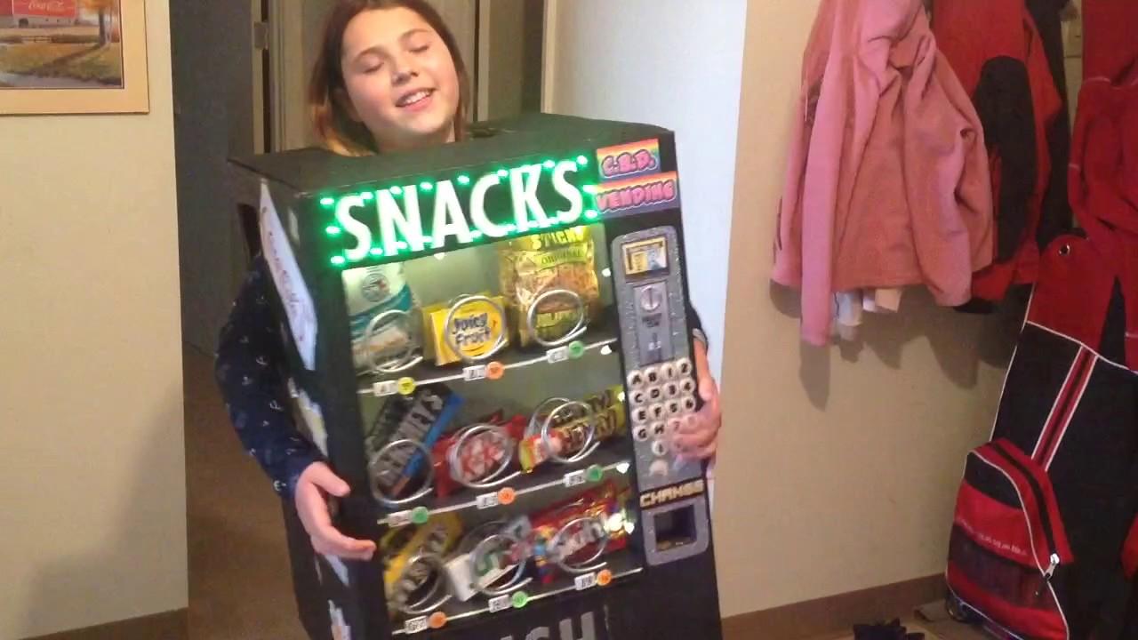 my halloween vending machine costume youtube