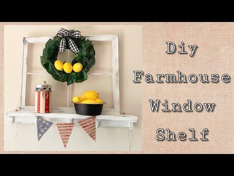 Diy farmhouse window shelf