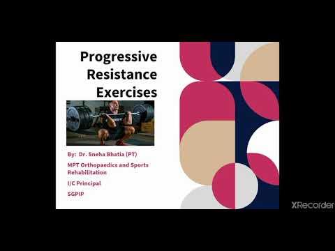 Progressive Resistance Exercises Part-1!