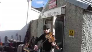 Impromtu traditional fiddle music at Arbour Hill music shop