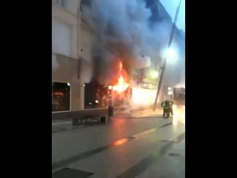 Rua Alzette em fogo / Rue Alzette en feu / Esch-sur-Alzette - Luxembourg