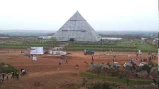 Largest meditation pyramid in the world 180x180ft at Kadthal, Andhra Pradesh