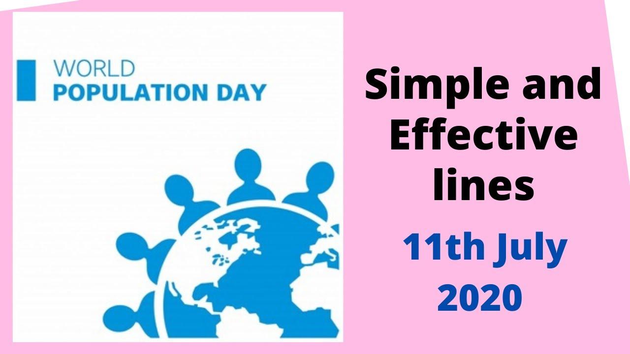 Essay on world population day