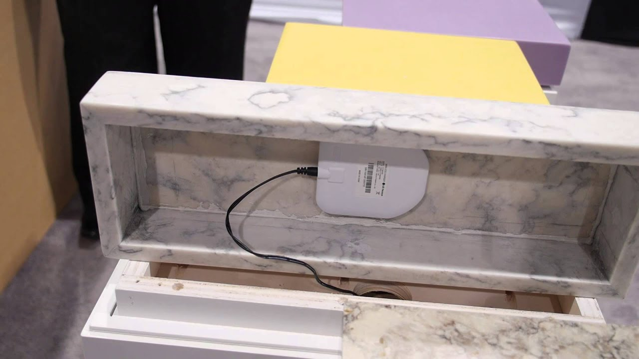 This Countertop Lets You Charge Your Devices Wirelessly