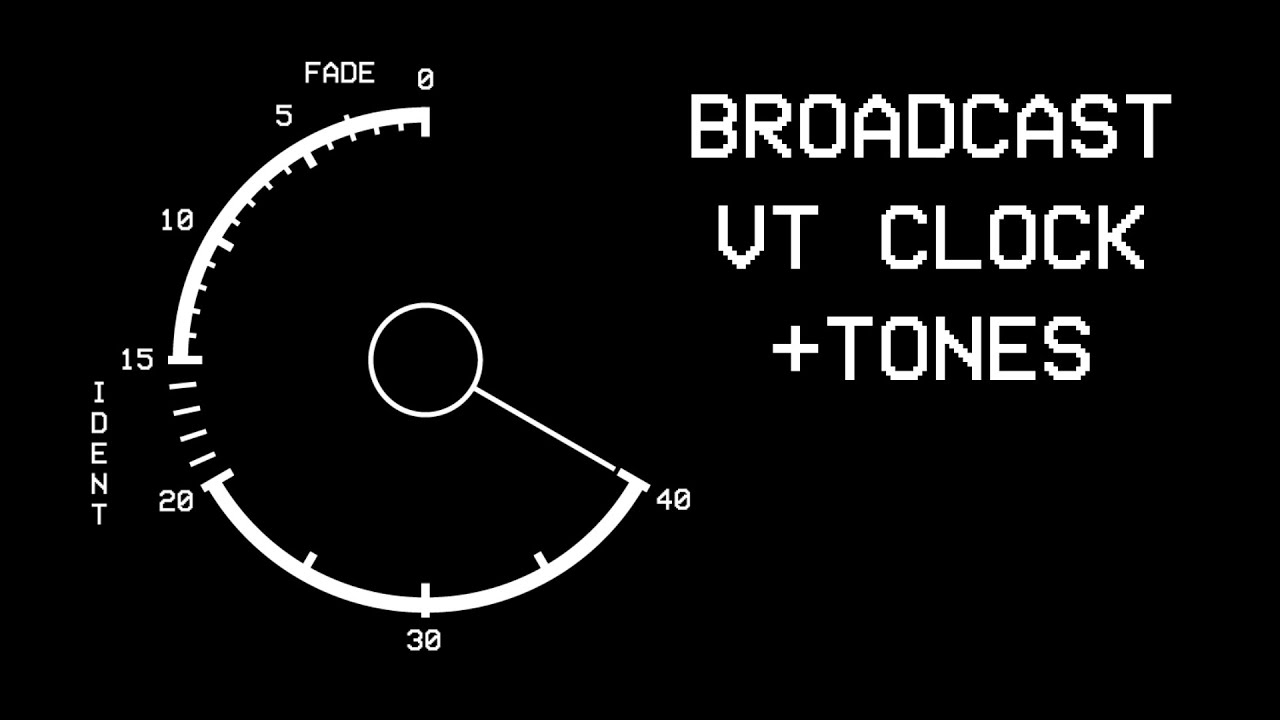 Free Broadcast VT Clock HD 1080p