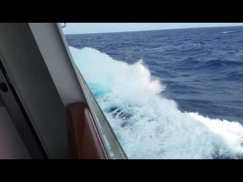 Crashing Waves while Cruising in the Gulf headed to Mexico