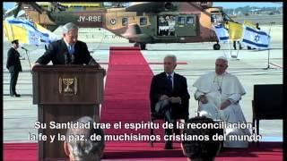 Encuntro historico del papa con el patriarca ortodoxo en Jerusalen