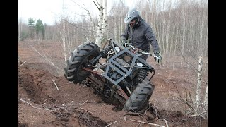 Homemade 4x4 Turbo 1.9TD Quad/ATV automatic gearbox first tests.