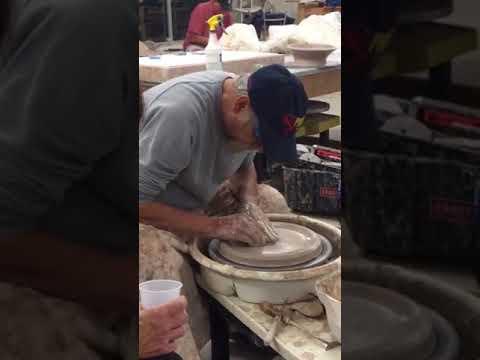Beginner Instruction In Making A Platter On The Pottery Wheel Youtube