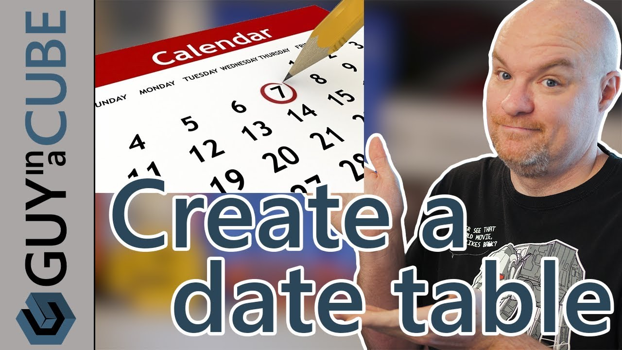 Power BI date table: create using DAX