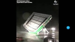 Furacão Florence destrói posto de gasolina na Carolina do Norte nos EUA | HURRICANE FLORENCE