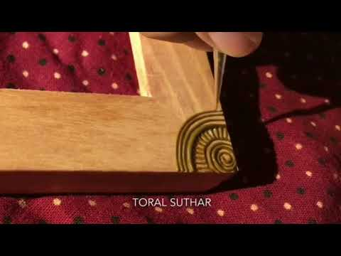 DIY henna design inspired decorated wooden frame| Decorative wooden frame|Henna Mehndi Trends|