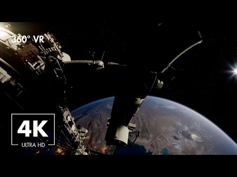VR Floating Space Exploration With Ambient Music at 432Hz For Relaxation.