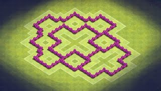Clash of Clans - TH6 Farming Base (TheHouse) Effective Traps!