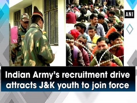 Indian Army's recruitment drive attracts J and K youth to join force - ammu and Kashmir News