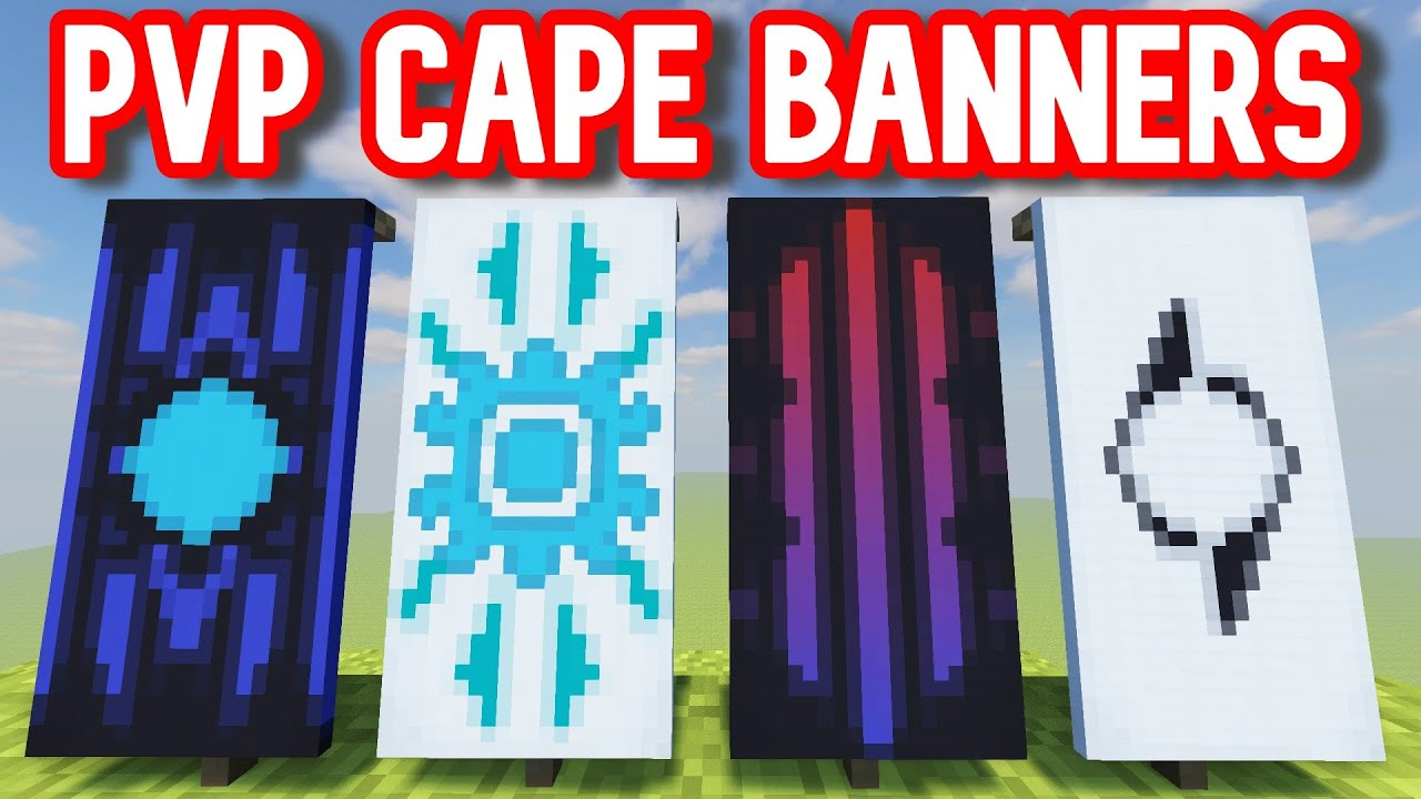 Top 4 Pvp Cape Banners In Minecraft Tutorial Youtube
