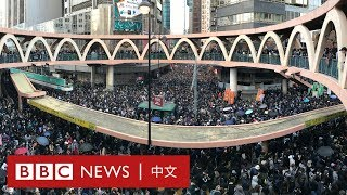 Baixar 香港示威:數以十萬計市民再遊行 晚間燈海閃耀- BBC News 中文