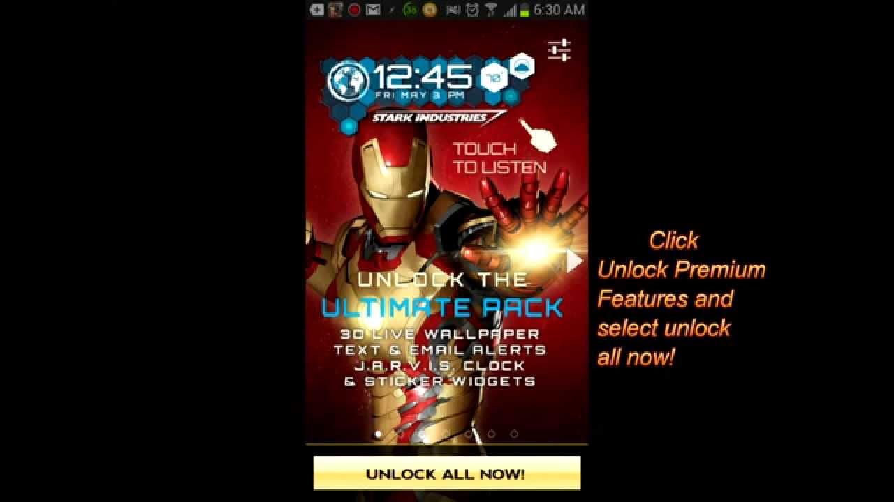 iron man 3d live wallpaper premium ver 1.21 free - youtube