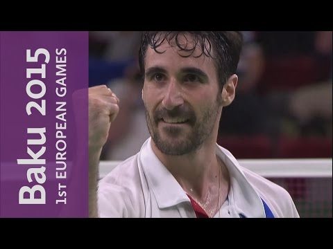 Full replay of Men's Singles Gold Final Abian v Holst | Badminton | Baku 2015 European Games