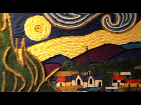 Van Gogh's Starry Night String Creation ~ By: Artist Todis Fly
