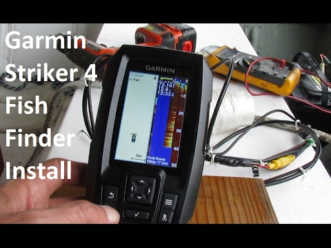 garmin striker4 fish finder with gps installation