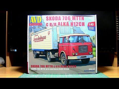 Сборная модель SKODA 706 MTTN с П/П ALKA N12CH AVD Models