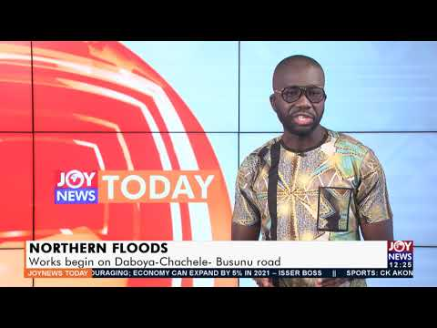 Northern Floods: Construction of Daboya-Chachele-Busunu road destroyed by floods ongoing (17-9-21)