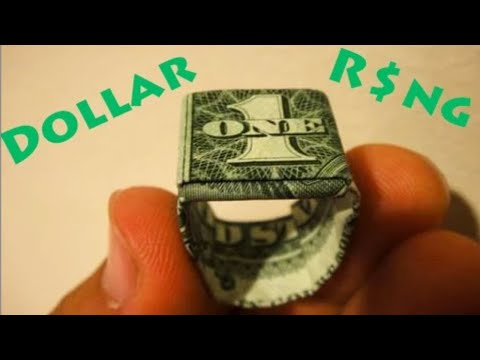 How To Make An Origami Dollar Ring Moneygami Youtube