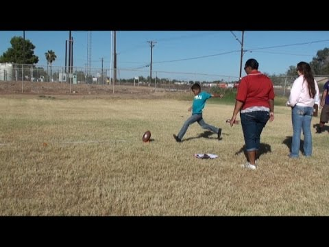 RAW VIDEO: Ben Hulse Elementary School students punt, pass and kick for competition