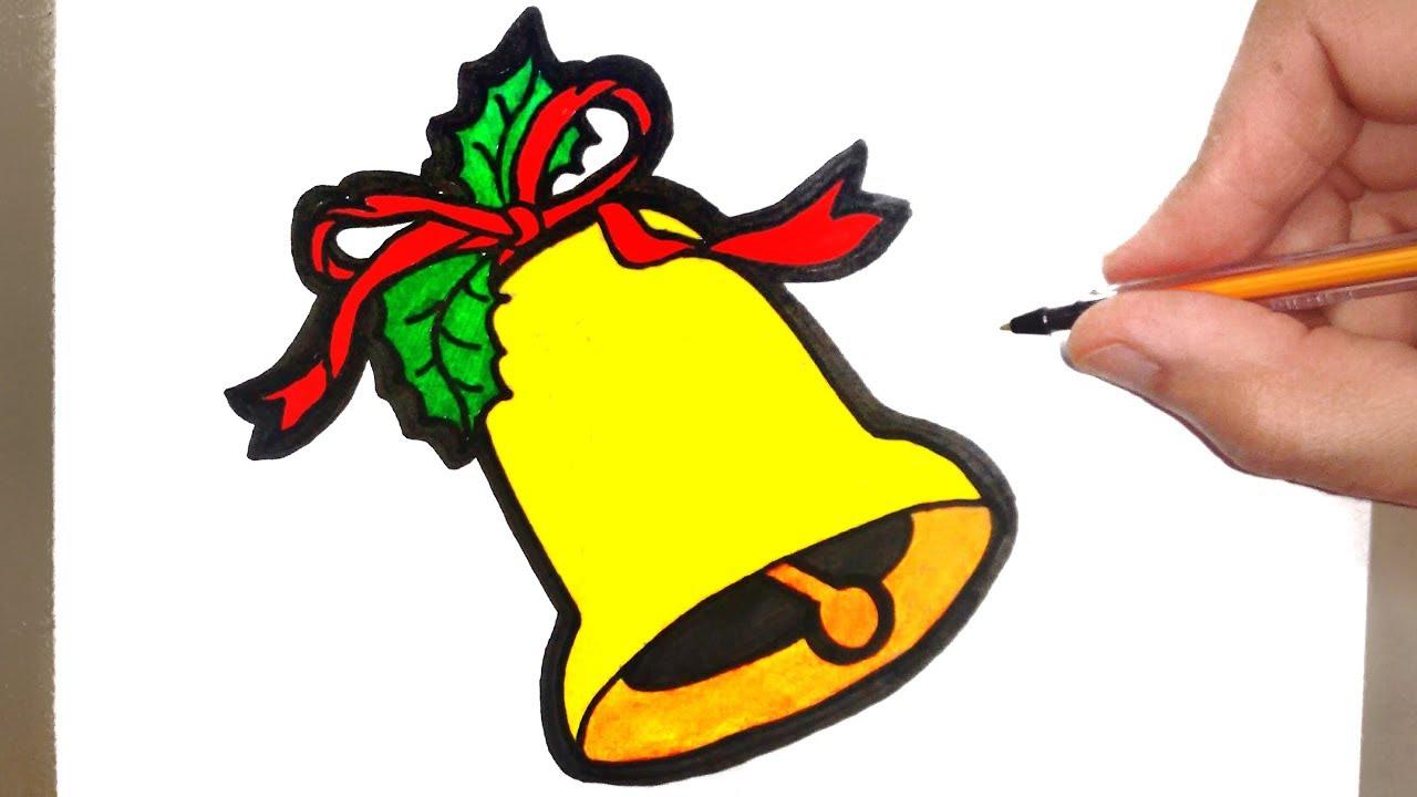 como desenhar um sino de natal papai noel youtube