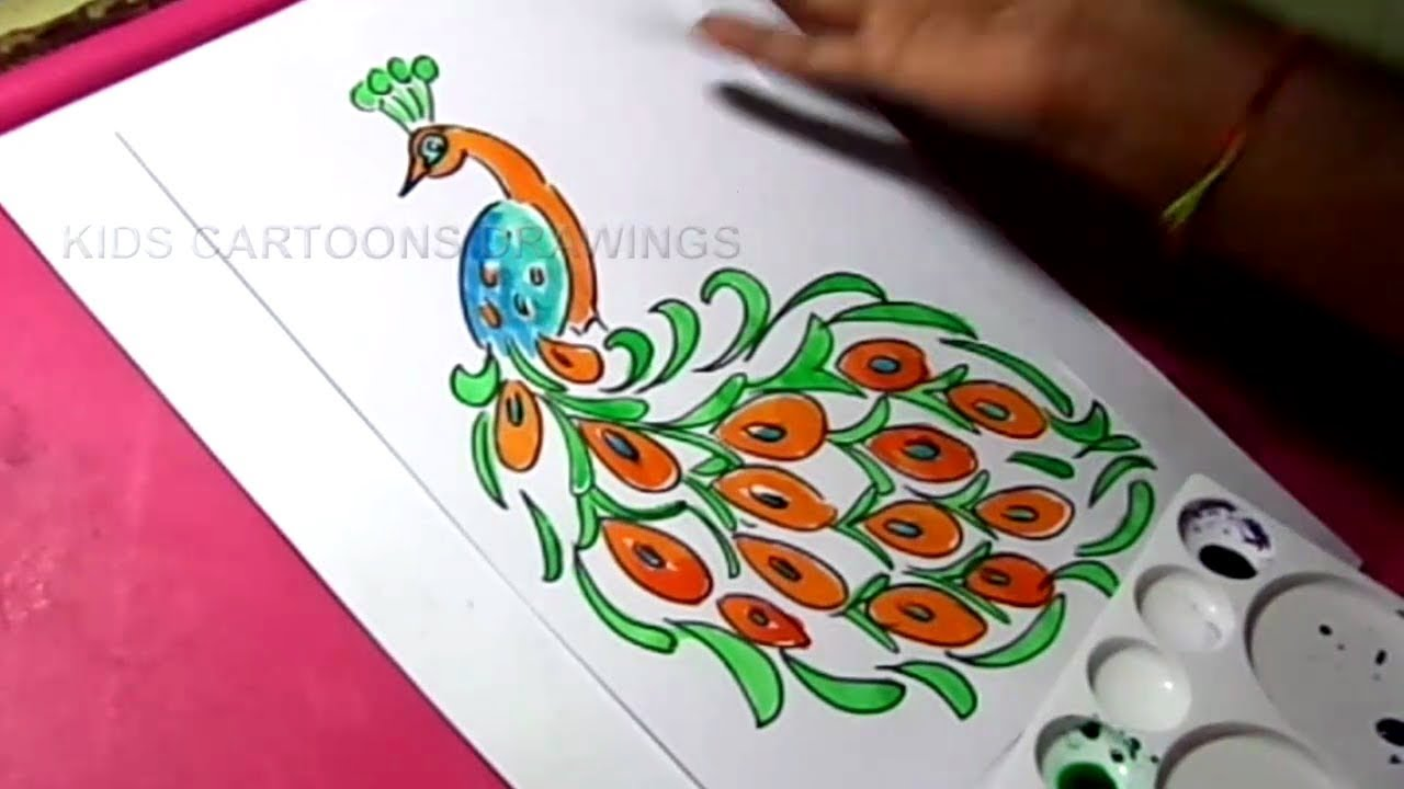 How to Draw Independence Day Peacock Designs Drawing