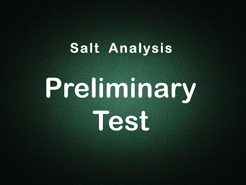 Salt Analysis Preliminary Tests Edunovus Online Smart Practicals