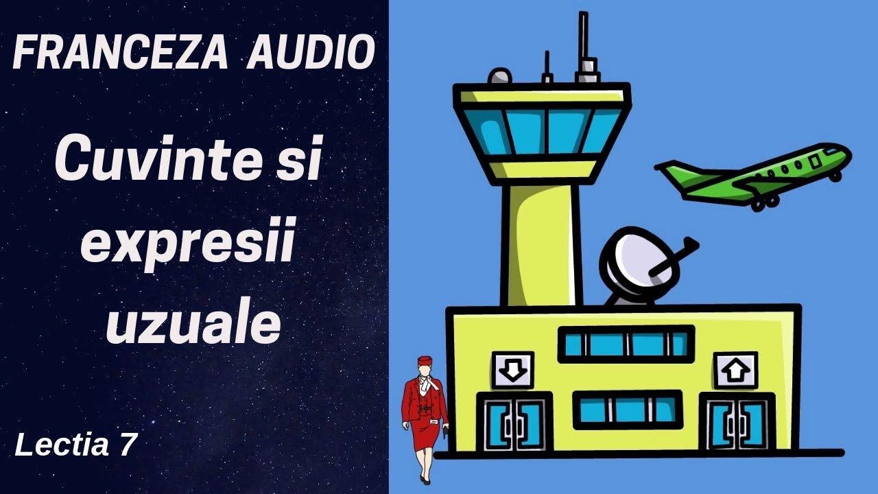 Franceza AUDIO (7) - In aeroport - Cuvinte uzuale franceza  - Franceza pentru incepatori (2019)