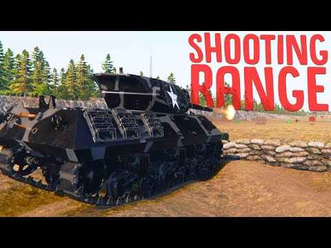 I Opened A Shooting Range To Test My Tanks - New Tank & Museum Updates - Tank Mechanic Simulator