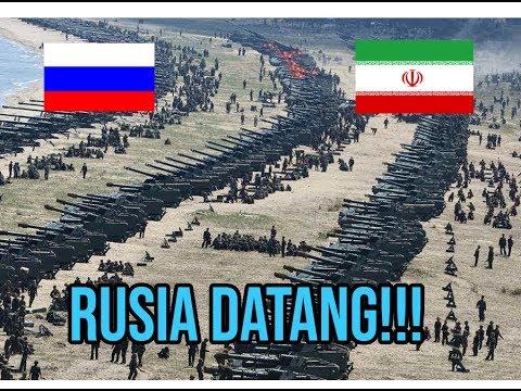BERANI NYERANG IRAN! TIBA TIBA Iran Dan Rusia Latihan Militer Terbesar Di Selat Iran