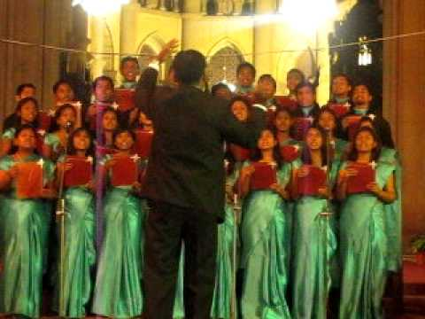 CSF choir performance in 2011 in All Saints Cathedral, Allahabad.avi