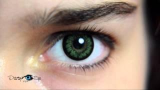 Zielone soczewki kolorowe PartyEye OS GREEN / Green Color Contact Lenses