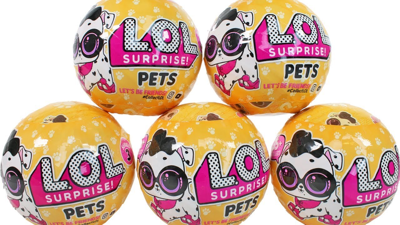 LOL Surprise Dolls Series 3 Pets Wave 2 Blind Box Unboxing Toy Review 7 Layers of Surprise