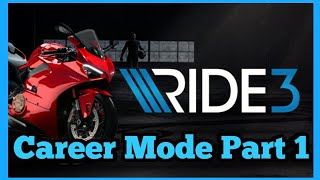 RIDE 3 Career Playthrough PS4 Pro Part 1
