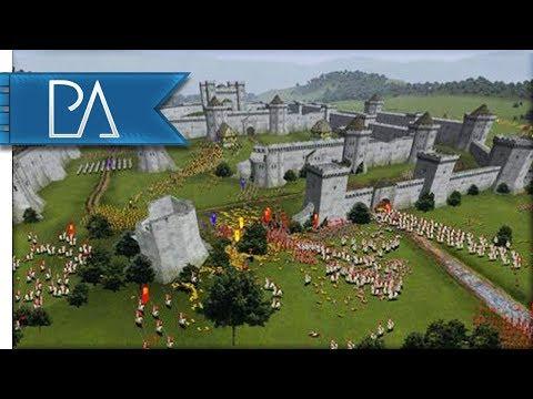Hundred Years' War Siege Battle - Medieval Total War Gameplay