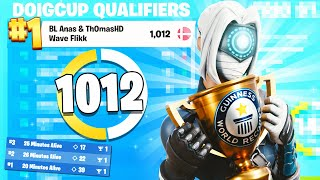 WORLD RECORD 🏆 1st Place in Fortnite Trio Cup (1000+ Points) ft. ThomasHD & Flikk | Anas